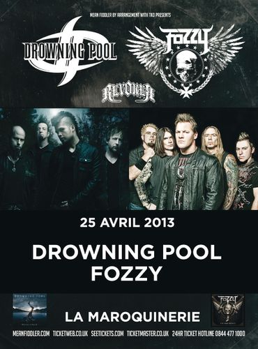 Drowning Pool Fozzy 2013