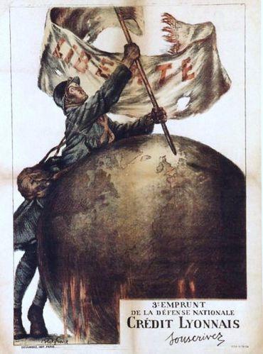 Abel Faibre, Le soldat, Guerre de 1914, Crédit Lyonnais, 3è Emprunt de