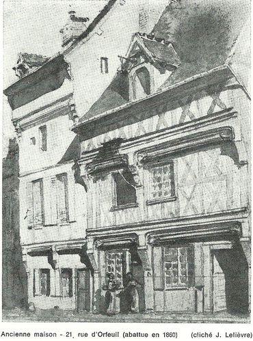 orfeuil Vieilles demeures -21 rue orfeuil- 1969.