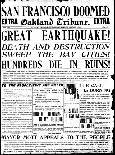 san fran earthquake