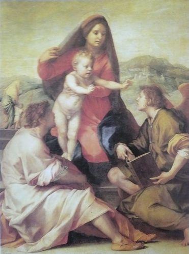 Andrea del Sarto Madonenna della Scla ou la Vierge et l'Enf