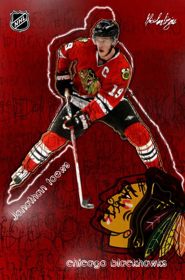 Affiche-Jonathan-Toews-Chicago-2011