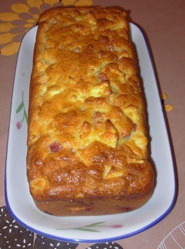Cake pommes, jambon, beaufort2