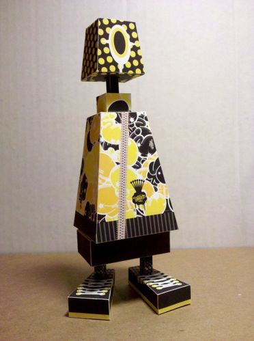 Paper toys BoxCan! by Phil Toys custom by Shin Tanaka