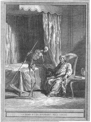 fable de la fontaine - illustration Oudry - la mort et le mourant