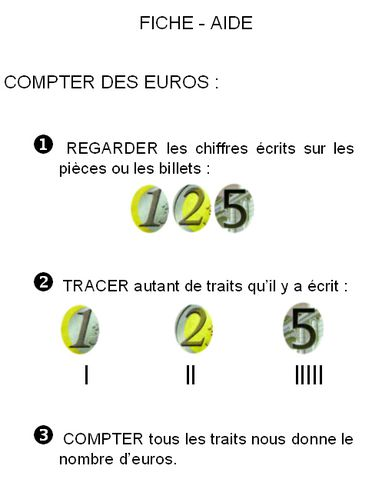 fiche-aide compter euros