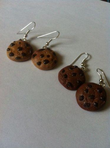 boucle d'oreilles cookies