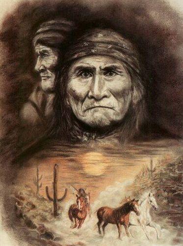 Geronimo - double portrait