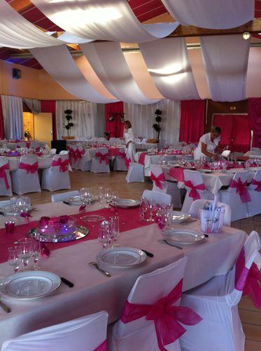 Decorations de salles salles fetes mariage - Decoration salle de reception pour mariage ...
