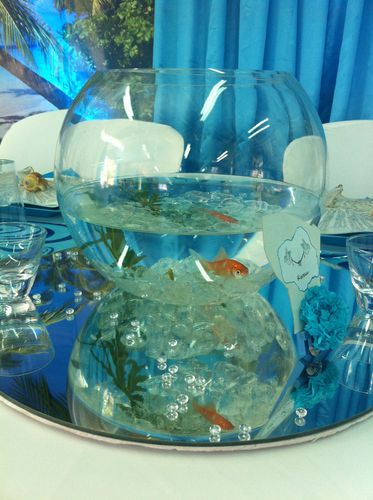 Mariage decoration theme les iles for Deco aquarium poisson rouge
