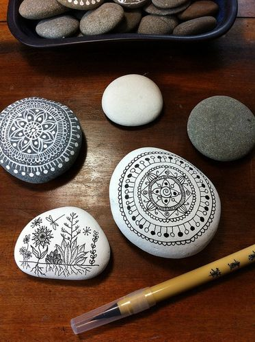 drawn-on-pebbles