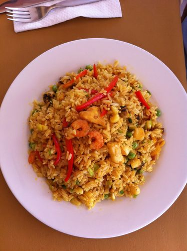 arroz con marisco, chicama beach hotel