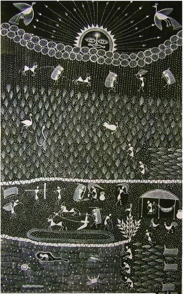 Warli, le cycle du riz