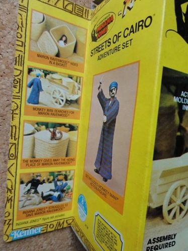 INDIANA JONES PLAYSET KENNER STREETS OF CAIRO BOX 2