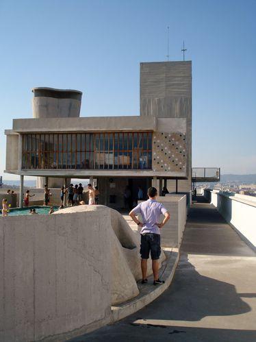 Marseille, La Cité radieuse, Le Corbusier, le Toit-Terrasse
