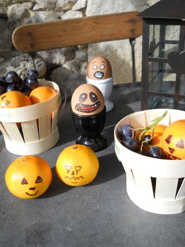 Octobre 2013 Halloween Oeufs Mandarines