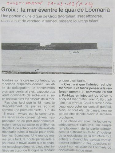 1100 Ouest France 31-03-13p12 Digue Ile Groix