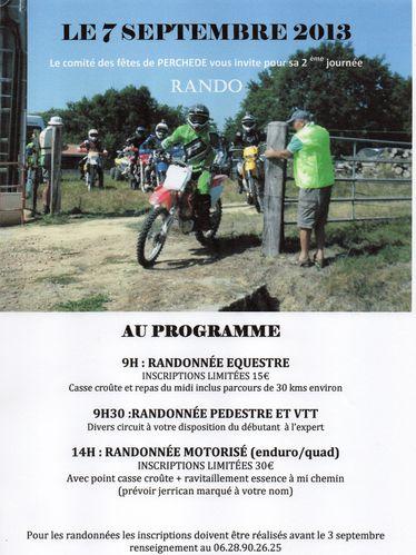 affiche rando perchedoise 07-09-13