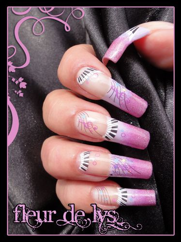 Nail Art rose mauve