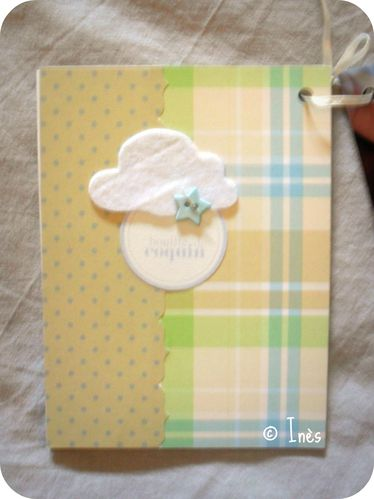 Scrap'Inès Mini Album Bébé Garçon Clean and Si-copie-8