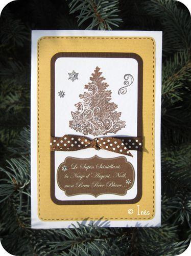 Scrap Inès Carte Voeux Fêtes Noël Nouvel an Sapin Holida