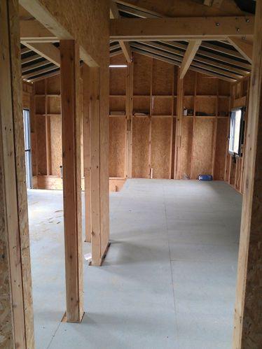 Pose du plancher de l 39 tage m aub 39 s construction for Construction plancher bois etage