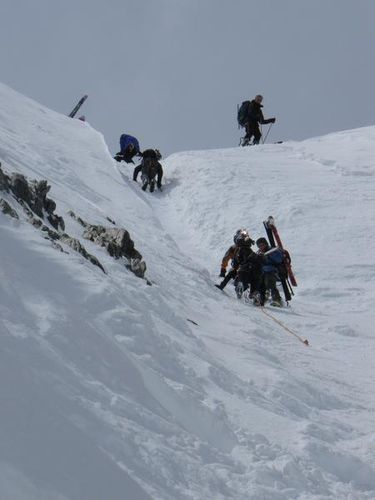 col du Chardonnet à ski Brieuc