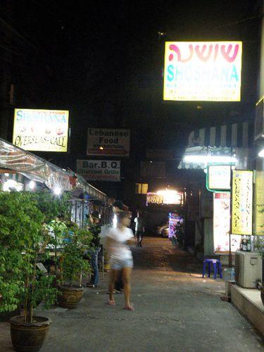 Khao San Road rue presque deserte