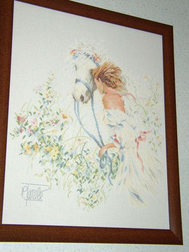 Horse and Flowers Lanarte