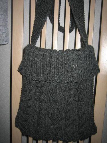 sac en tricot gris