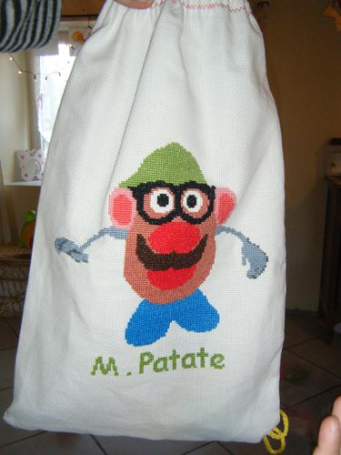 sac monsieur patate brode par virginie.