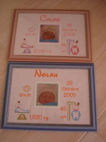 tableaux de naissance brode par sandrine