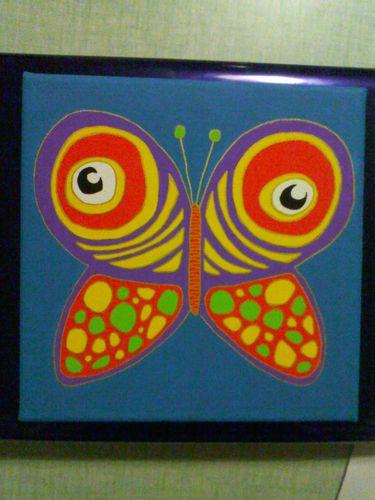 Numéro 22 peinture acrylique papillon