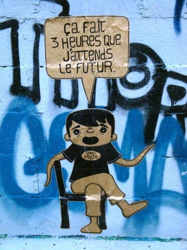 street-art Montmartre message future 1