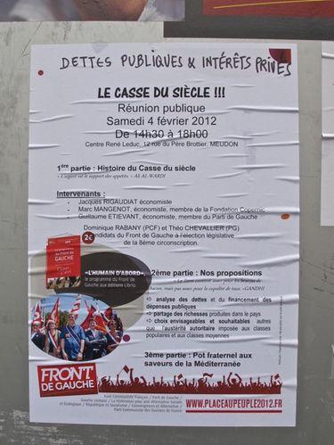 affiche election présidentielle 2012 Mélanchon casse du s