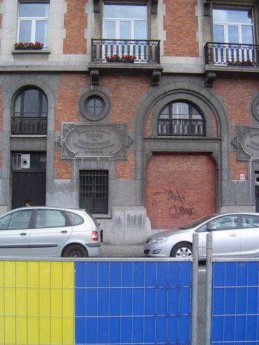 Bruxelles, Quartier du Canal, travaux & panneaux