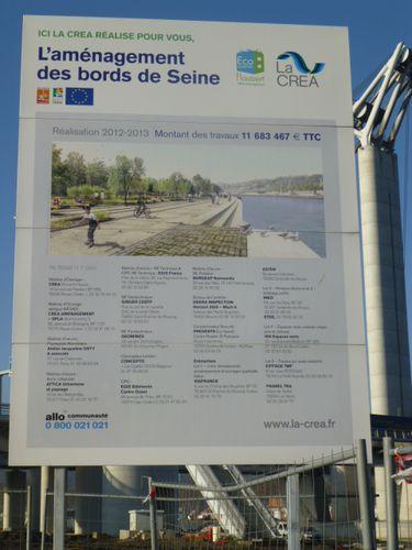 Rouen, Aménagement paysagers quais Seine, Jacqueline Osty