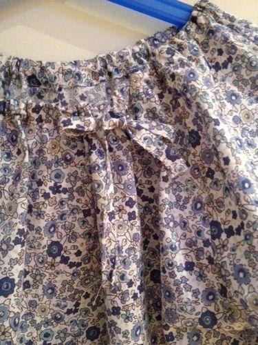 blouse raglan fleurs bleues 2