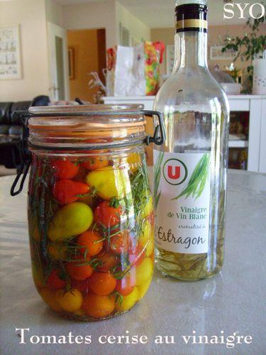 les tomates cerise au vinaigre de vin blanc du petit bistro chez mamigoz. Black Bedroom Furniture Sets. Home Design Ideas
