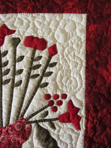 mon bouquet rouge quilting