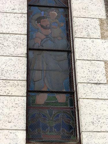 6-05-Chalais église St Christophe vitrail 1