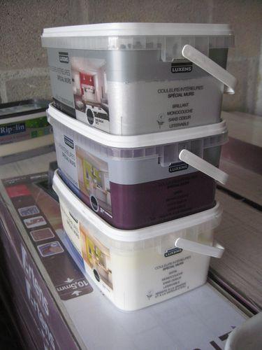 Pr paration pour nos travaux le blog de doune et keiser for Peinture aubergine