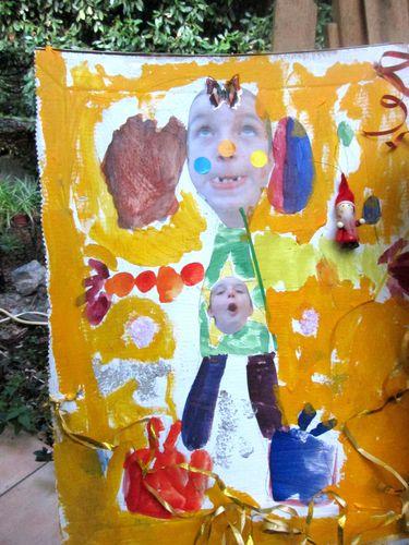 les clowns dessins d'après leur portrait d'enfants atelier