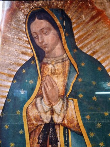 Mexico ND de Guadalupe vierge gros plan (2)