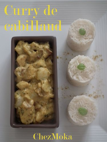 Cabillaud curry