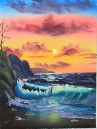 Bob Ross The Joy Of Painting By The Sea Video Fahtia Nasr