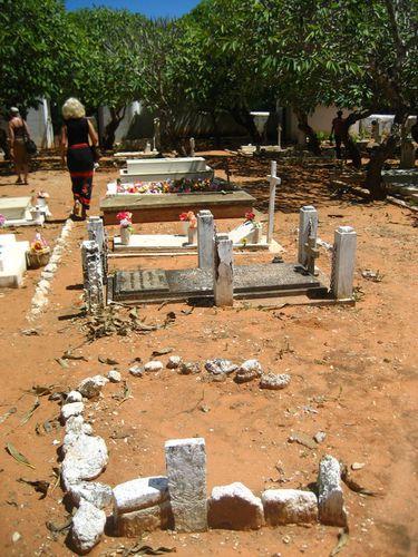 Friedhof mit Deutschen Graebern