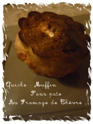quiche muffin sans pate au fromage de chèvre