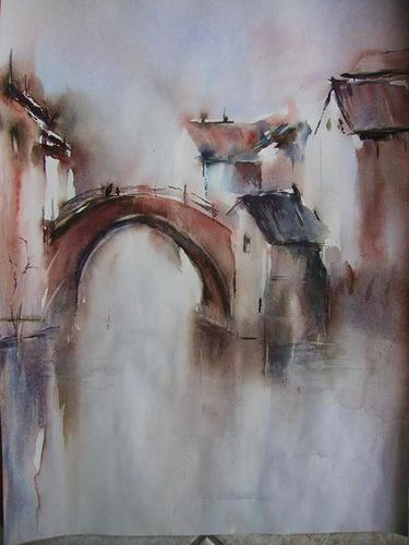 P comme pont baboutines for Aquarelliste chinois
