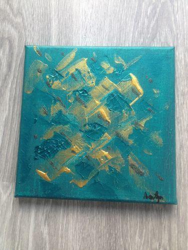Tableau m106 home d co marilyn for Tableau bleu et gris